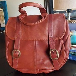 Hobo Leather Saddle Backpack